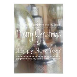 Rustic Merry Christmas & Happy New Year Cards