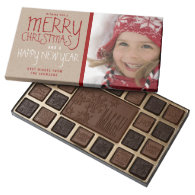 RUSTIC MERRY CHRISTMAS | HOLIDAY BOX OF CHOCOLATES 45 PIECE ASSORTED CHOCOLATE BOX