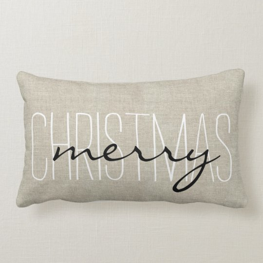 Rustic Merry Christmas Holiday Pillow Zazzle Com