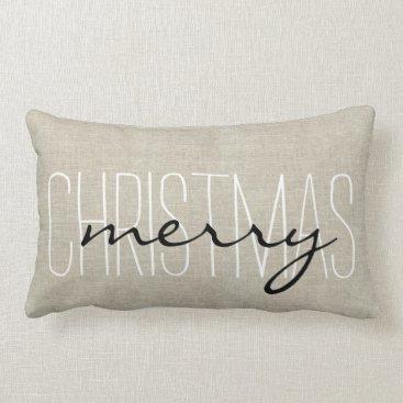 Christmas Themed Rustic Merry Christmas | Holiday Pillow