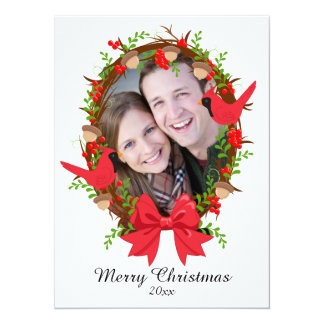 Rustic Merry Christmas Photo Card