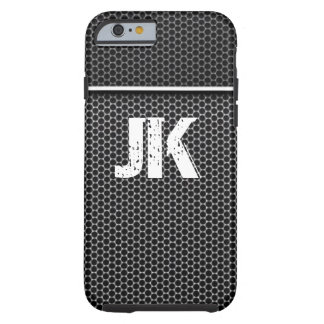 RUSTIC METAL MONOGRAM WITH PATTERN TOUGH iPhone 6 CASE