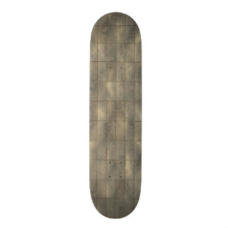 Rustic Metal Panels Texture Background Skateboard