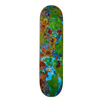 Rustic Metal Peeling Paint Vintage Grunge Funny - Skateboard