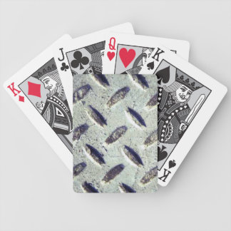 Rustic Metal Texture Bicycle Playing Cards