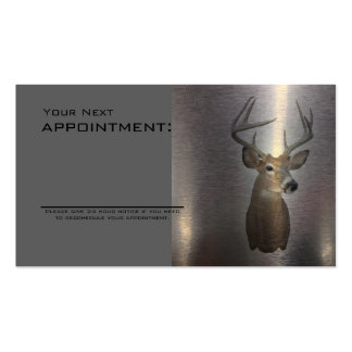 rustic metal texture western country deer Double-Sided standard business cards (Pack of 100)