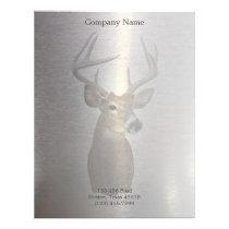 rustic metal western country deer construction letterhead