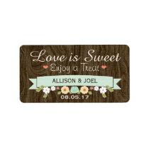 Rustic Mint Boho Love is Sweet Favor Labels