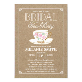 Rustic Modern Bridal Tea Party   Bridal Shower Card