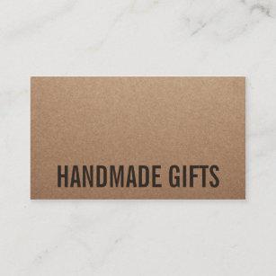 Kraft business cards templates zazzle rustic modern brown kraft paper handmade cardboard business card colourmoves