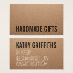 "Rustic modern brown kraft paper handmade cardboard business card<br><div class=""desc"">A rustic modern brown kraft paper handmade cardboard business card design. Customize this rustic modern brown kraft paper handmade cardboard business card and give it your individual style. A professional modern customizable Business Card. Perfect for many professions looking for that visual creative edge over their competitors to stand out from...</div>"