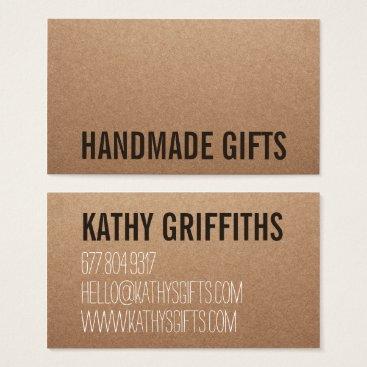busied Rustic modern brown kraft paper handmade cardboard business card