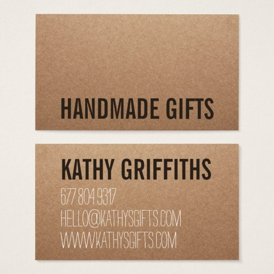 Rustic modern brown kraft paper handmade cardboard business card rustic modern brown kraft paper handmade cardboard business card reheart Gallery