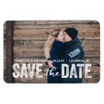 Rustic Modern | Photo Save the Date Magnet