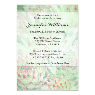 Rustic Modern Succulents Bridal Shower Card