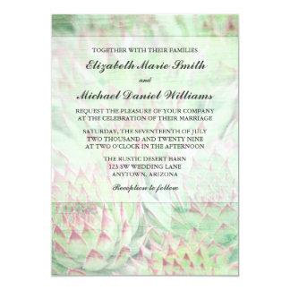Rustic Modern Succulents Wedding Invitations