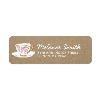 Rustic Modern Tea Party Label