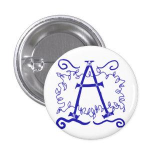 Rustic Monogram Button: A