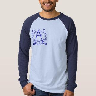 Rustic Monogram Men's Raglan: A Shirt