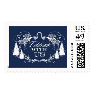 Rustic Moose Crest Navy | Atelier Isabey Stamps