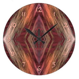 Rustic Mosaic American Native Indian Cabin Pattern Wall Clocks
