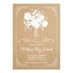 "Rustic Mother's Day Invitation 5"" X 7"" Invitation Card"
