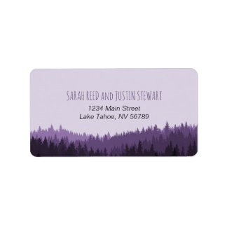 Rustic Mountain address label standard size