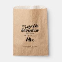 Rustic Mountain Adventure Begins Wedding Treat Favor Bag