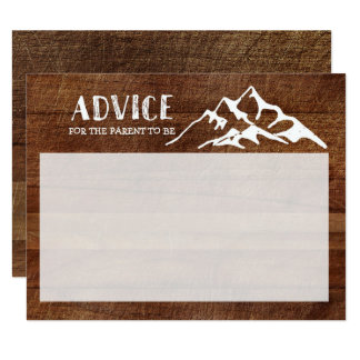 Rustic Mountain Advice for Parents Insert Card