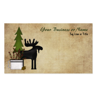 Rustic Mountain Country Moose Business Card