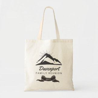 Rustic Mountain Illustration Family Reunion Tote Bag