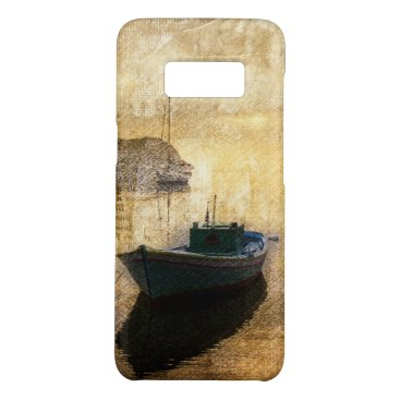 Beach Themed Rustic mountain lake canoe boat sailboat Case-Mate samsung galaxy s8 case