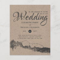 Rustic Mountain Landscape Pine Trees Wedding