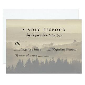 Rustic Mountain Wedding RSVP response cards
