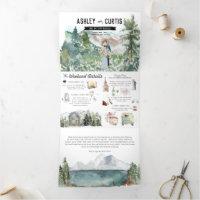 Rustic Mountain Wedding | Tri-Fold Invitation