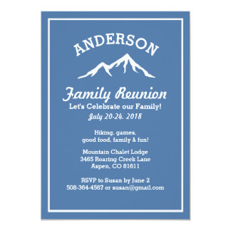 Nice Rustic Mountains Family Reunion Trip Get Together Card Pertaining To Invitation Card For Get Together