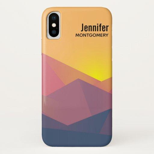 Rustic Mountains Geometric Minimalist iPhone X Case