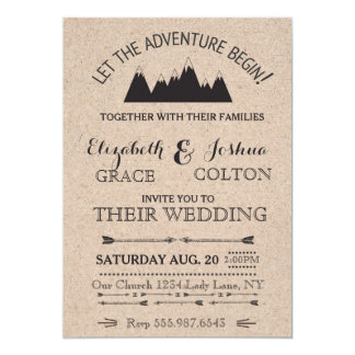 Rustic Mountains Wedding Invitation