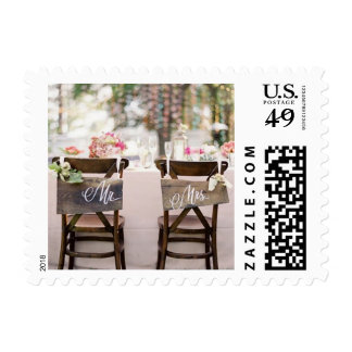 Rustic Mr and Mrs wedding stamps