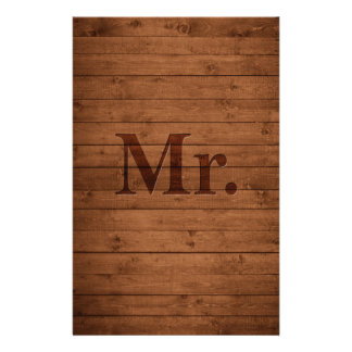 Rustic Mr. Stationery