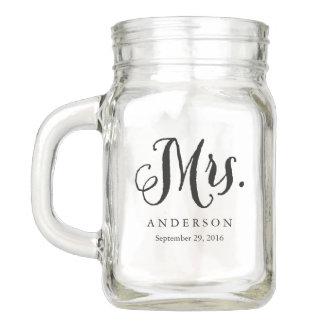 Rustic Mrs. Wedding Mason Jar