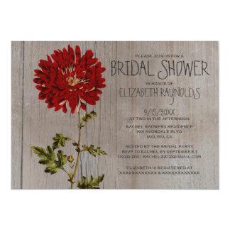 "Rustic Mums Bridal Shower Invitations 5"" X 7"" Invitation Card"