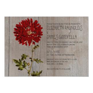 "Rustic Mums Wedding Invitations 5"" X 7"" Invitation Card"