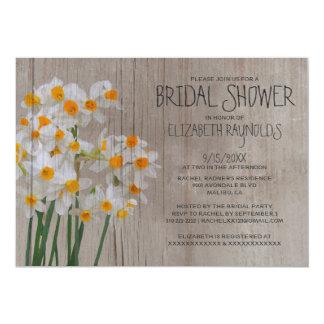 Rustic Narcissus Bridal Shower Invitations