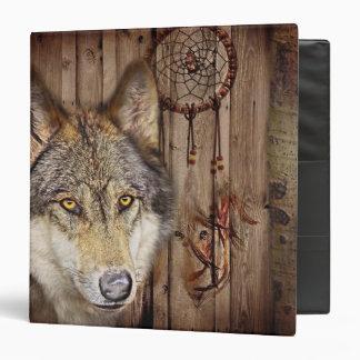 rustic native indian dream catcher wild wolf binders