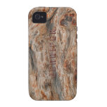 Rustic Natural Wood And Metallic Look 2 iPhone 4/4S Case