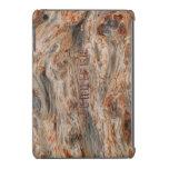 Rustic Natural Wood And Metallic Look 2 iPad Mini Covers