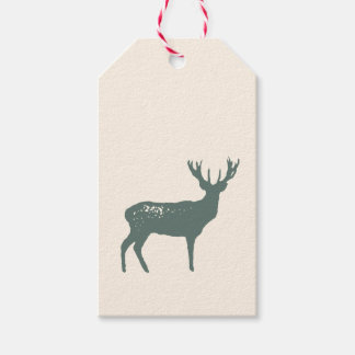 Rustic Nature Inspired Reindeer Christmas Gift Tag