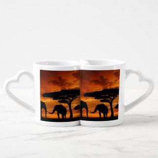 rustic nature landscape vintage wild animal couples coffee mug