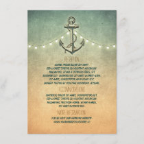 Rustic Nautical Anchor and Lights Wedding Details Enclosure Card